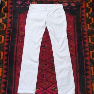 7 for all Mankind, White straight cut jean